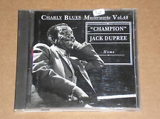 """CHAMPION"" JACK DUPREE - HOME: CHARLY BLUES VOL. 40 - CD COME NUOVO (MINT)"