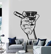 Wall Decal Drink Alcohol Men Bar Whiskey Rum Cigar Relaxation Relax z1211