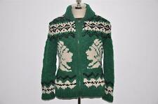 Ralph Lauren RRL Handknit Indian Cowichan Wool Cardigan Sweater L