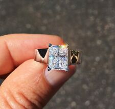 2.5 ct Radiant Cut Ring Top Russian Quality CZ Moissanite Simulant Size 10