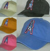 Houston Oilers Ladies Garment Washed Cap ~Hat ~NFL PATCH/LOGO ~5 Colors  ~NEW