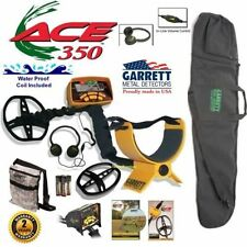 Garrett Ace 350 Metal Detector w/ Free Accessories ~ Waterproof Coil ~Travel Bag