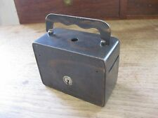 small antique safe STRONGBOX lock box - S.D. Childs Co. Chicago - heavy steel