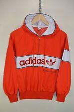 Vintage 80s Adidas New York Sudadera Con Capucha Chaqueta de pista Chándal Top Casuals Tamaño Pequeño
