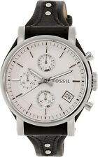 Fossil Women's ES3817 Silver Leather Quartz Watch