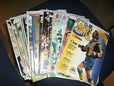 Complete set of Arsenal away programmes from 1994/95 season
