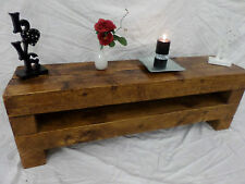 80cm Chunky Rustic Pine TV Stand Unit Cabinet
