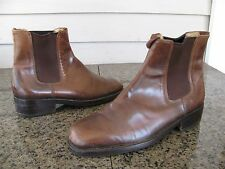 Vintage Horse Hide Leather Chelsea Boots Sz 42.5 (US 9.5) Men's Shoes Made Italy