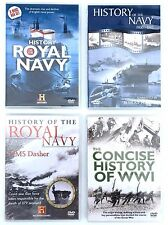 Collection Bundle Lot of 4 Royal Navy and WWI DVD's - 6 Documentaries