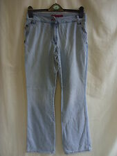 "Ladies Jeans - FCUK Jeans, size 10 28""W, light blue wash, high waist, boot 8073"