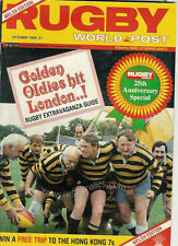 RUGBY WORLD MAGAZINE OCTOBER 1985 - PERFECT GIFT FOR A FAN BORN IN THIS MONTH
