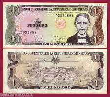 DOMINICAN REPUBLIC  - 1 PESO ORO SERIE 1982 raro , scarce  - P 117c  -  SPL / XF