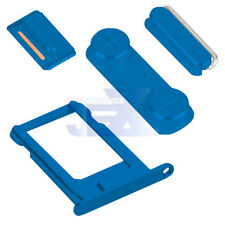 Blue Button & Sim Tray Set for iPhone 5/5G/5S  Volume/Power/Silent Switch