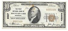 $10. 1929 Mountain Lake Minnesota National Currency Bank Note Bill Ch. #9267