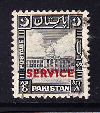 PAKISTAN 1949 SG031 8as black - overprinted SERVICE - fine used. Catalogue £25