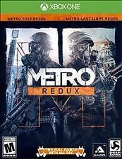 MICROSOFT XBOX X-BOX ONE METRO REDUX VIDEO GAME 2 COMPLETE GAMES FREE SHIPPING