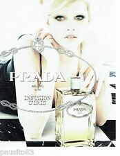PUBLICITE ADVERTISING 116  2010  Parfum Infusion d'Iris PRADA Georgia May Jagger