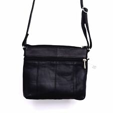 WOMEN'S LEATHER CROSS BODY BAGS ZIPPER COMPARTMENT