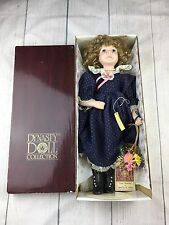 """DYNASTY Doll Collection Hand Painted Porcelain Penelope  Doll 1980s 16"""""""