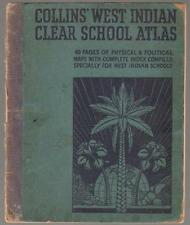 VERY RARE 1951 COLLINS WEST INDIAN CLEAR SCHOOL ATLAS GOOD CONDITION FREE SHIP