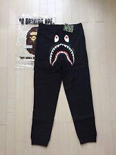 BAPE A Bathing Ape Shark Sweatpants Size XL Black 100% AUTHENTIC