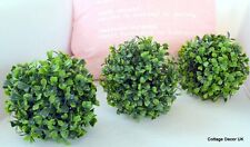 3x15CM LARGE LUXURY ARTIFICIAL BUXUS BOXWOOD TOPIARY BALL WINDOW BOX GARDEN POT