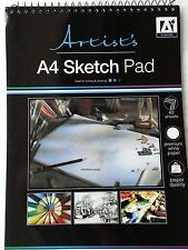 A4 ARTIST SKETCH PAD wire bound Sketch Book 60 Sheets Sketching/Drawing