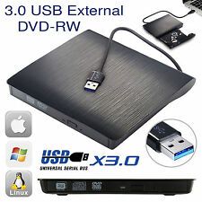 Externo USB 3.0 unidad de CD DVD RW Escritor Quemador Lector Para Windows Mac PC portátil