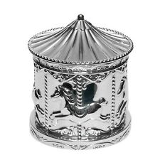 Silver Plated Money Box Carousel Baby Christening Childrens Baby Shower Gift