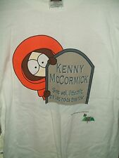 South Park Oh My God They Killed Kenny Tee Shirt 1998 White Extra Large New