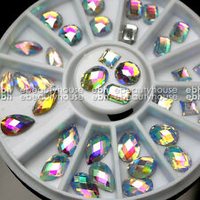 36 PCS 3D Nail Art Glitter AB Rhinestones Wheel Nail Decoration Design #EB-081