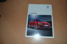 CATALOGUE Volkswagen Golf GTi de 2010 Suisse