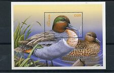 Gambia 2002 MNH Ducks of the World 1v S/S II Birds Green-winged Teal