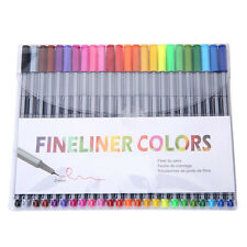 24 Fineliner Pens Color Fineliners Set Markers Art Painting Good Quality abus