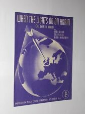 Eddie Seiler/Sol Marcus/Bennie Benjemen When The Lights Go On Again 1942.