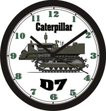 CATERPILLAR D7 WORLD WAR II EQUIPMENT WALL CLOCK