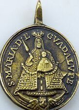 RARE Spanish Colonial St Jerome & O.L. of Guadalupe Old World Spain Shrine Medal