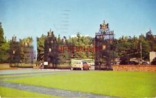 FOREST LAWN, GLENDALE, CA IS GUARDED BY LARGEST WROUGHT IRON GATES IN WORLD 1958