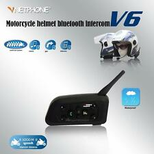 2PCS Wireless Bluetooth Motorcycle Helmet Intercom Headsets for 6 Riders 1200m