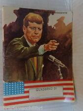 Vecchio quaderno scolastico di scuola john kennedy vita di un presidente cuba