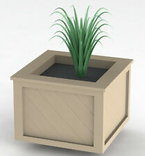 Square Nantucket Planter Box Woodworking Plans - Easy to Build - Plans Only