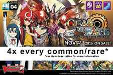 Cardfight!! Vanguard G-CB04 Gear of Fate 4x COMMON/RARE ENGLISH PLAYSET*