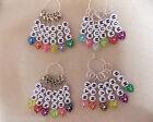 Knitting or Crochet Stitch Markers Mum Nan Set of 6