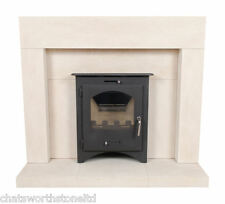LIMESTONE FIREPLACE / STONE FIRE SURROUND FOR INSET FIRE / OPEN FIRE