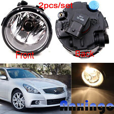 For NISSAN & INFINITI Replacement Fog Lights Front Bumper Lamps LEFT+RIGHT- PAIR