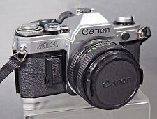 Vintage Canon AE-1 35mm SLR Film Camera with FD 50 mm f1.8 lens Kit EXCELLENT