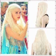 Fille Long bouclé ondulé Game of Thrones Daenerys Targaryen Perruques