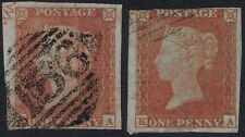 1841 1d Red Pl 173 KA Marginal Ornament Second State