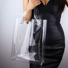 Fashion Clear Oversized Tote PVC Plastic Large Shopper Shoulder Bags Transparent