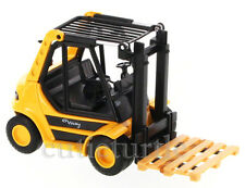 """5.5"""" Welly Fork Lift Truck With Pallet Diecast Model Yellow"""